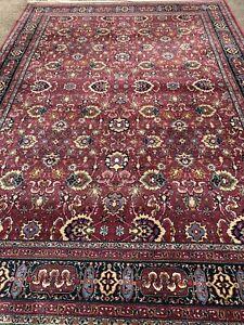 Karastan Herati Wool Williamsburg Area Rug 8 x 11' Excellent Used Condition