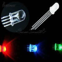 50/100PCS 5mm 4pin RGB Diffused Tri-Color Common Anode LED Red Green Blue