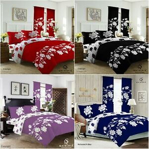 Richmond Duvet Set Quilt Cover Fitted Sheet Pillow Cases or Matching Curtains