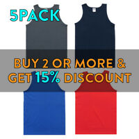 5 PACK AAA ALSTYLE 1307 MENS PLAIN TANK TOP CASUAL SLEEVELESS ACTIVE MUSCLE TEE