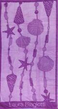 SEA SHELLS PURPLE LILAC JUMBO BEACH TOWEL 100% EGYPTIAN COTTON 90cm x 170cm
