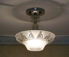 488 Vintage aRT DEco Ceiling Light Lamp Fixture Glass Chandelier white 3 bulb