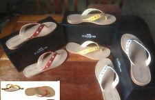 NIB COACH Womens Cottage Carmine Soft Vegan Leather Sandals 6, 6.5, 7, 7.5, 9.5M