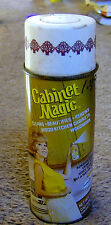 vintage 1960s CABINET MAGIC can GREAT MOD HOUSEWIFE GRAPHICS spray wax Cleveland