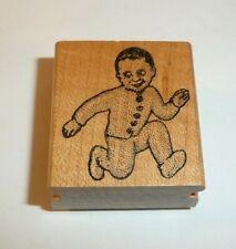 Weird Creepy Baby Child Ken Brown Stamps VTG 1984 Running Children Pajamas Odd