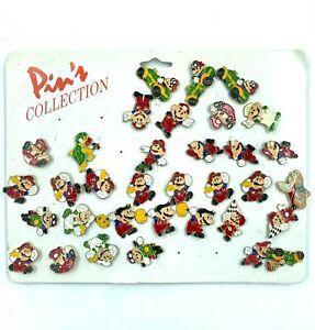 Gros Lot de 34 pin's Nintendo Super Mario Bros, Mario Kart etc. Avec attaches