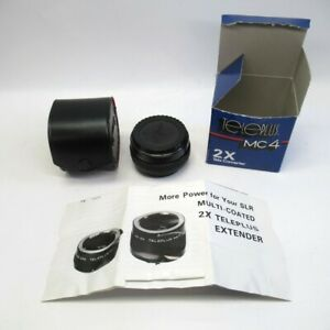 Teleplus MC4 Teleconverter 2x Automatic Multi-coated w/ Box Case CFE Japanese