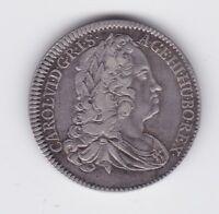 Austria Autriche Charles VI 1/4 de thaler 1740 7.3 g app B-289
