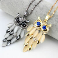 Necklace Sweater Long Rhinestone Gift Women Owl Fashion Crystal Pendant Chain