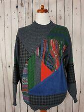 Vtg Green 1990s Crew Neck Wool Blend Loose Fit Jumper Coogi Inspired *42/L* HG38