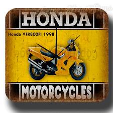 Honda VFR800FI 1998 MOTORCYCLE  VINTAGE  METAL TIN SIGN WALL CLOCK