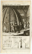 Antique Print-GLASS BLOWING-WORKSHOP-GNOMON-SUNDIAL-Buys-1770
