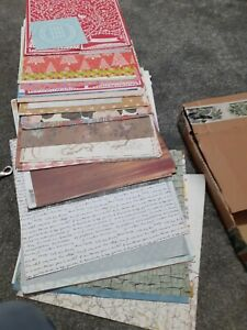 Scrapbook papers, card 12 x12, Anna Griffin templates, rub ons, alphabets