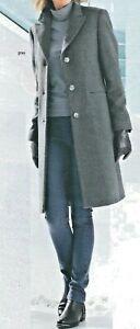 Mantel Wollmantel Damenmantel Übergangsmantel Wolle grau 52