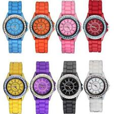 8PCS Casual Silicone Jelly Sports Womens Watches Quartz Wrist Watch Wholesale