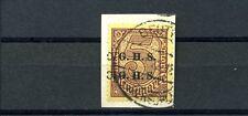 Oberschlesien 5 Mark Dienst Doppelaufdruck Michel 20 b IX geprüft (S10512)