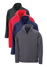 GREY RED BLUE or BLACK Quarter Zip Neck Stretch Fit Mid Layer Micro Fleece Top
