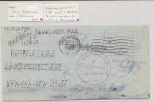 "KUT -US 1943 ""EVACUEES MAIL"" NEWARA CDS , US CENSOR, CAMP 007 & 006, CAMP 1"