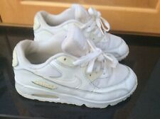 Women's Ladies Girls Nike Air Max 90 White Trainers UK size 2