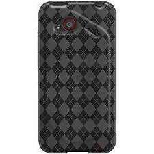 AMZER SMOKE GREY LUXE ARGYLE HIGH GLOSS TPU CASE FOR HTC DROID INCREDIBLE 4G LTE