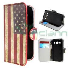 Custodia BANDIERA vintage USA per Samsung Galaxy Ace 4 G357 cover stand America