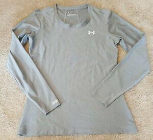 Under Armour UA - Womens Gray Long Sleeve Heat Gear Active Shirt - Size Large