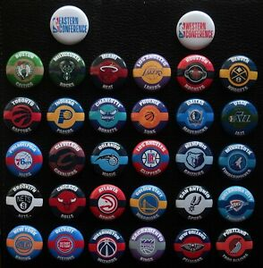 NBA Team Individual Magnets - Choose From List - 1 1/2 Inch Round Magnet