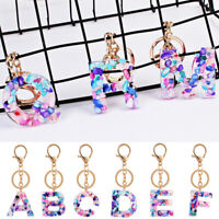 Alphabet Keyring A-Z Initials Letter Key Ring Shiny Coloful Key Chain A-Z Letter