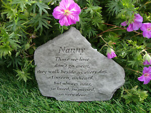Nanny Memorial Garden Stone Plaque Grave Marker Ornament churchyard