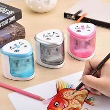 Electric Automatic Pencil Sharpener Desktop Kids 2 Holes Art School Office Home