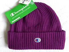CHAMPION Athletic Purple MERINO WOOL BEANIE Toque Hat New Tags UNISEX a2149900d342