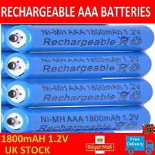PHILIPS CD RANGE TELEPHONES 4x 1.2V 1800 mAh AAA RECHARGEABLE BATTERIES BLUE