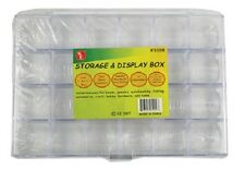 Storage Box Clear Plastic Beads Findings Beading Crafts 24 Compartments Fishing