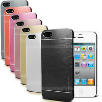 Metal Brushed Aluminium Hard Case Slim Cover Back For Apple Iphone 4 4S / 5 5S