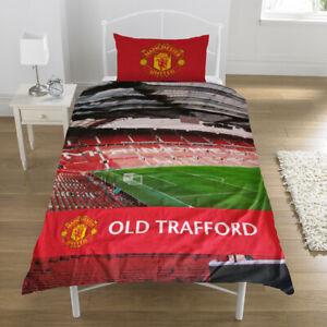 Manchester United Colour Stadium Duvet Set Single Football Fanatics