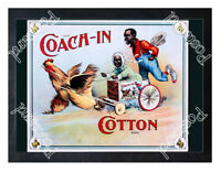 Historic Coach-In Cotton 1880s Advertising Postcard