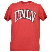 NCAA UNLV Nevada Las Vegas Rebels Helmet Tshirt Tee Red Mens Short Sleeve Sports
