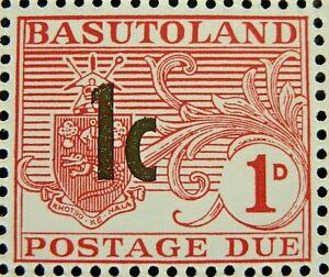 BASUTOLAND 1961 SG D5 1c. ON 1d. CARMINE POSTAGE DUE  -  MNH
