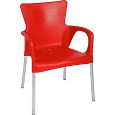 Stuhl Stapelstuhl Bistrostuhl Cafe Gartenstuhl 4erSet rot Kunststoff stapelbar