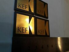 KEF logo badge 1ps Plastic Gold color 27 mm