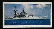 USS CALIFORNIA   Battleship    Original  Vintage Card  VGC