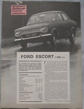 1968 Ford Escort Autocar magazine Road test
