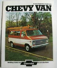 CHEVROLET Chevy Van Sales Brochure 1973/4 #2680 G10 G20 G30