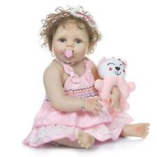 """23"""" Ganzkörper Silikon Vinyl Reborn Baby Doll Mädchen anatomisch korrekt Puppen"""