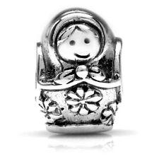 925 Sterling Silver Matryoshka Russian Nesting Doll European Charm Bead