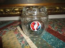 UEFA EURO 2016 France Soccer Ball Round Glass Mug with Handle Made in Italy