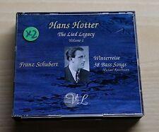 HANS HOTTER - THE LIED LEGACY VOLUME 1 - FRANZ SCHUBERT - 3 CD