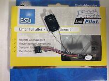 +++ ESU 55800 Loksound Micro V4 Decoder 32Mbit PluX 12 am Kabel Wunschsound