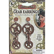Steampunk Gear Earrings Victorian Industrial Science Fiction Apocalyptic costume