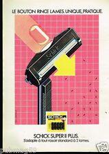 Publicité advertising 1981 Les lames de rasoir Schick